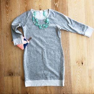 J Crew size Small sweatshirt dress in gray